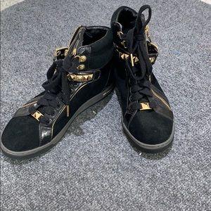 MK Black & Gold Sneakers
